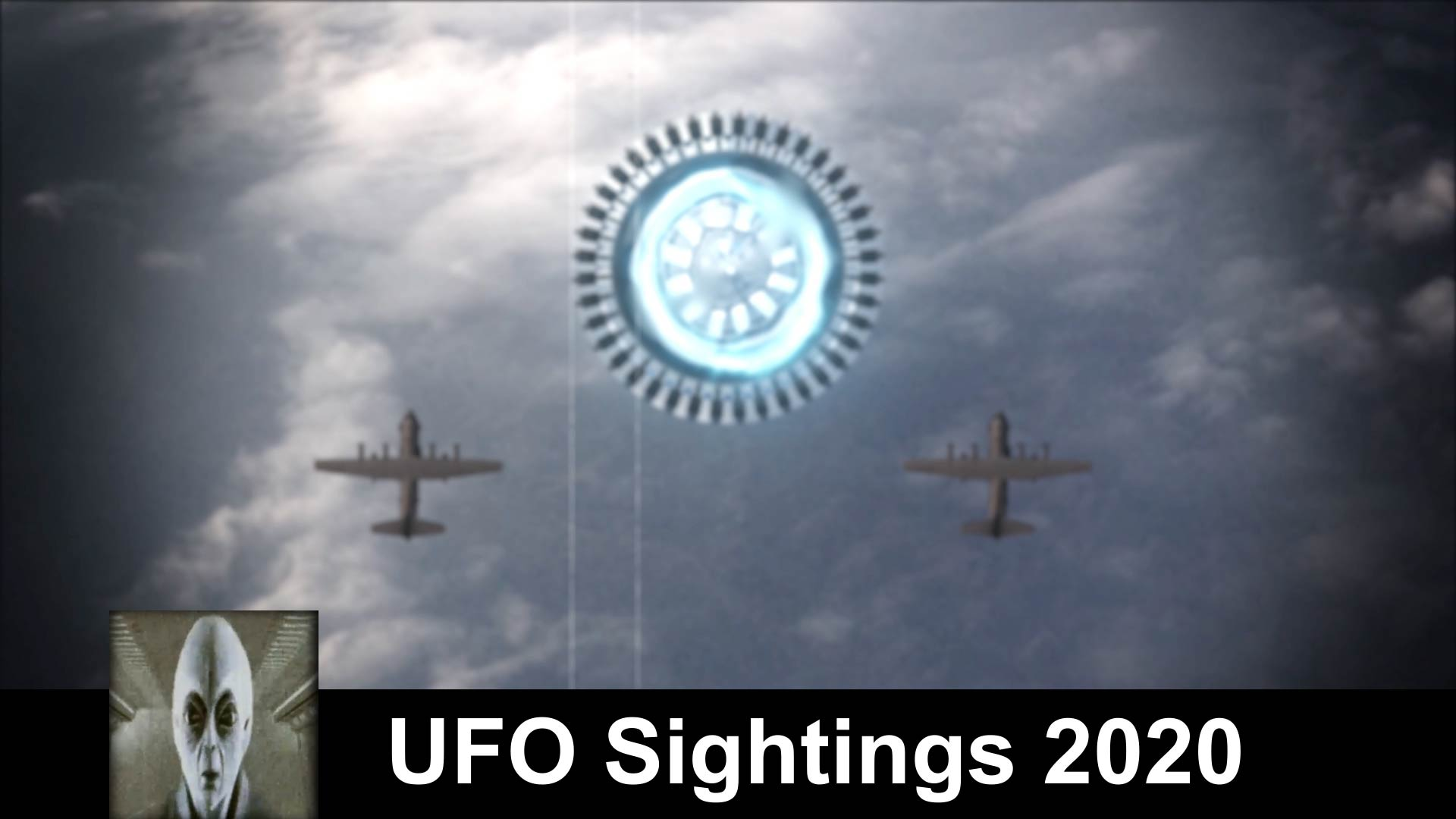 UFO Sightings 2020 Huge Mother Ship Escorted By Planes