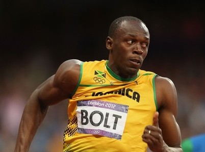 World record holder Bolt