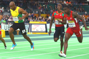 Asafa Powell and Trayvon Bromell