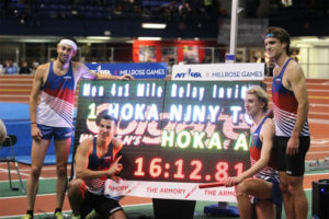 4x mile world record team