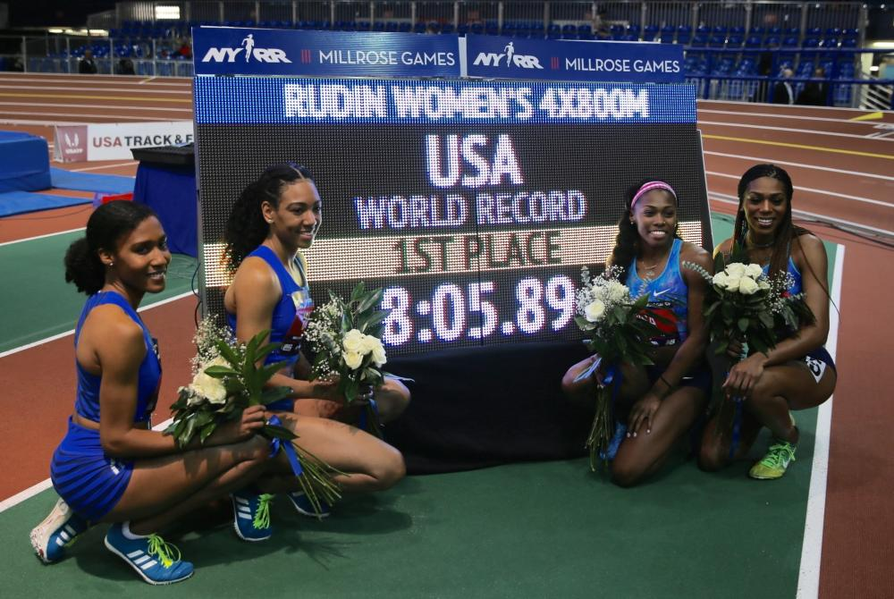 USA 4x800 relay team- NYRR Millrose Games