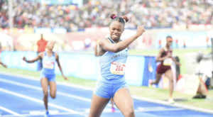 Champs 2018 - Kevona Davis break 200m record