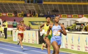 Kevona Davis of Edwin Allen at Champs 2019