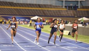Elaine Thompson at 2019 Jamaica Trials