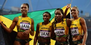 Jamaica women 4x400 Olympics and Worlds