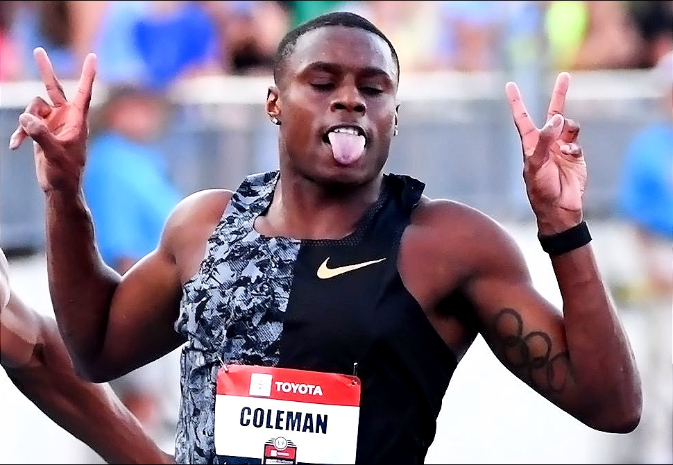 Christian Coleman at USA Trials 2019