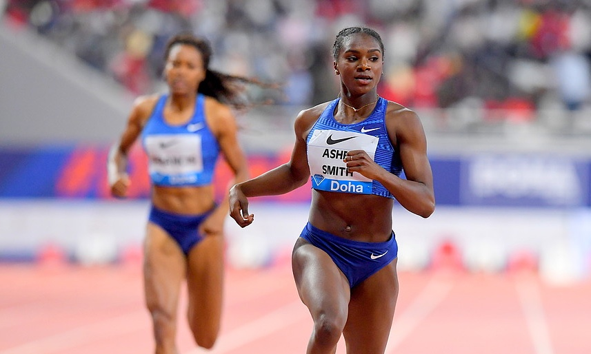Dina Asher-Smith in action - Diamond League Meeting