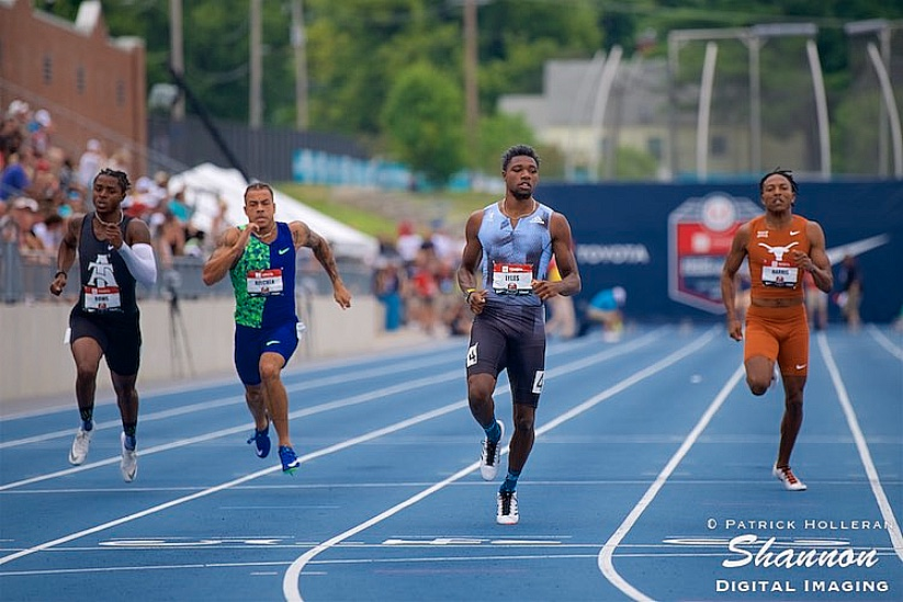 Noah Lyles of USA in the 200m