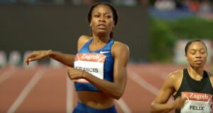 Phyllis Francis at the Zagreb IAAF World Challenge