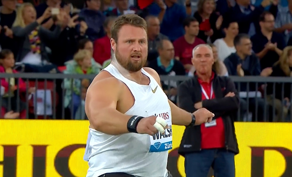 Tom Walsh of New Zealand wins the men shot put