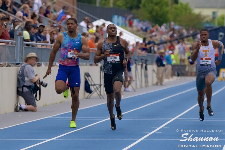 Christian Coleman wins heat