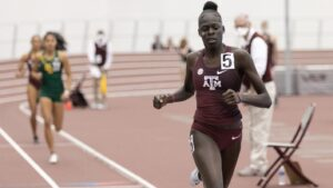 Athing Mu of USA and Texas A&M 400m indoor record