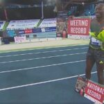 Grant Holloway sets USA record in Lievin