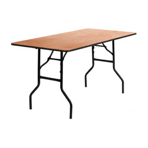 Rectangle Wood Folding Banquet Table