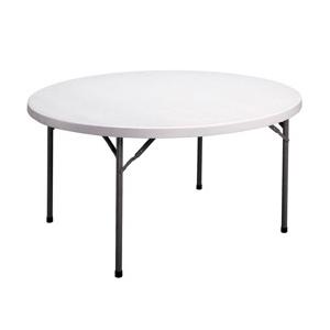 Round White Plastic Folding Table