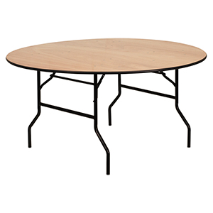 Round Wood Folding Table