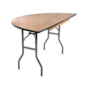 Half Round Wood Folding Table