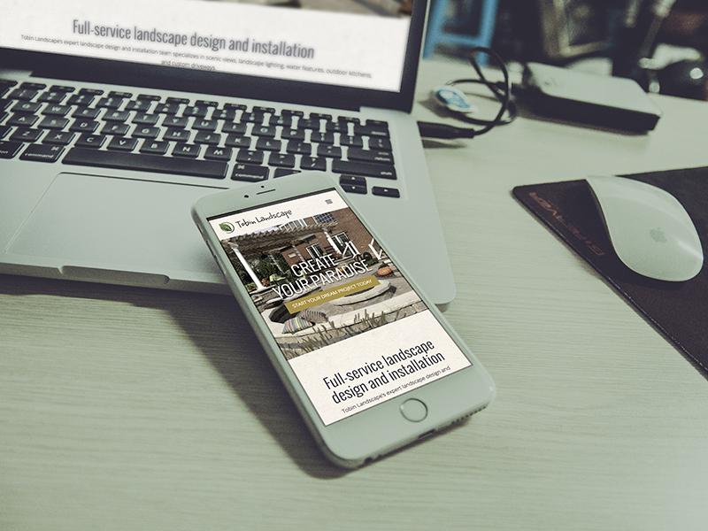 Tobin Landscape Responsive Website Design