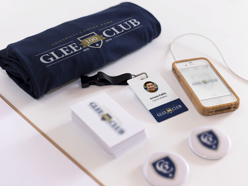 Notre Dame Glee Club Branding