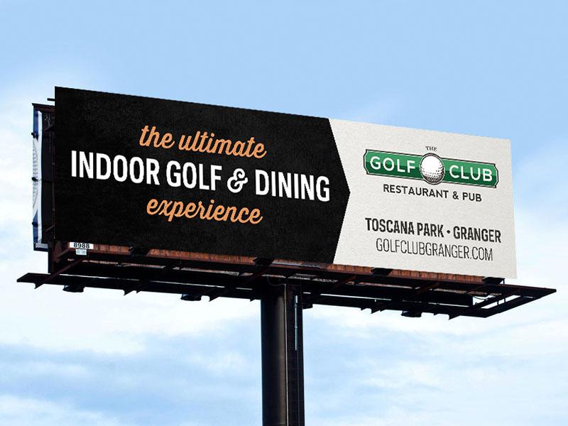 Golf Club Billboard Ad