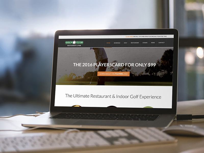 Golf Club Website Design