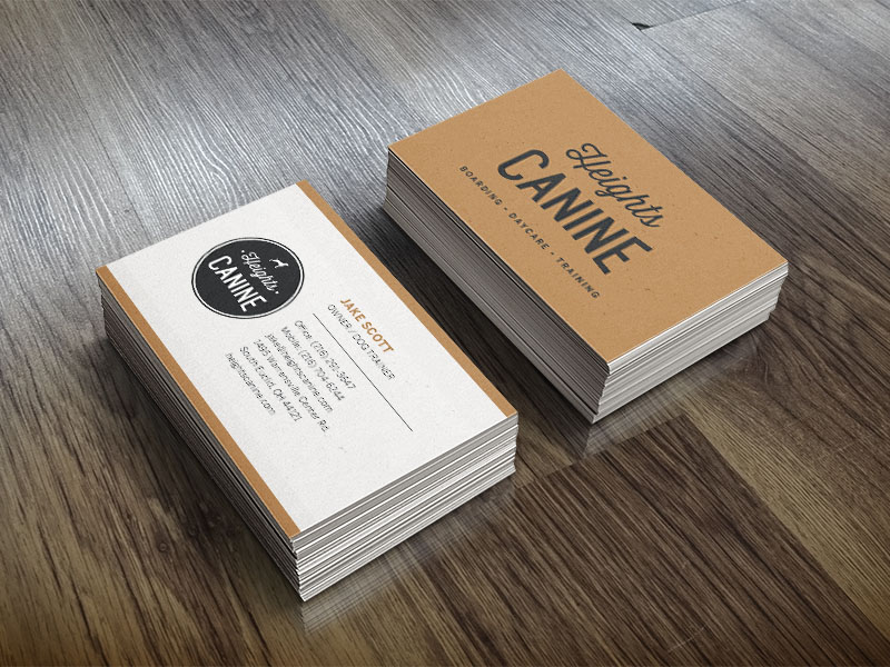 Heights Canine Business Cards