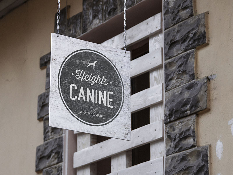 Heights Canine Signage