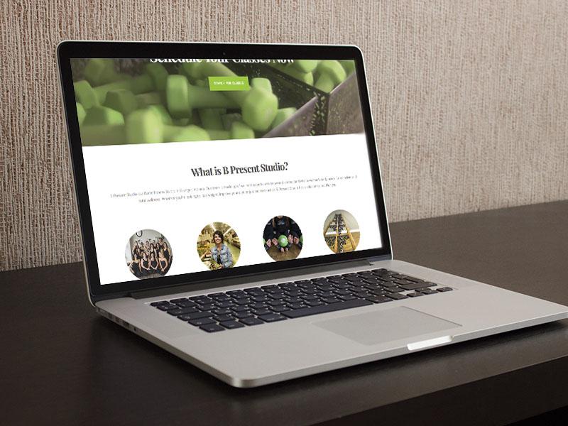 B Present Studio Website Home Page