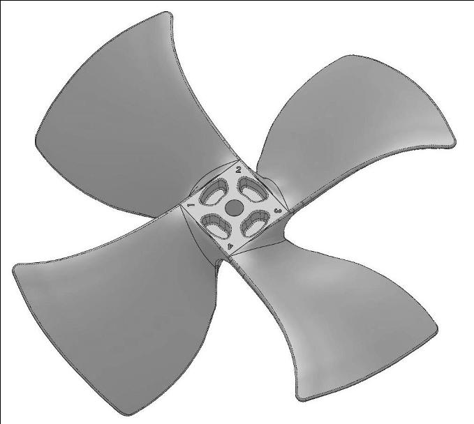Prototype Machining Fan solidworks