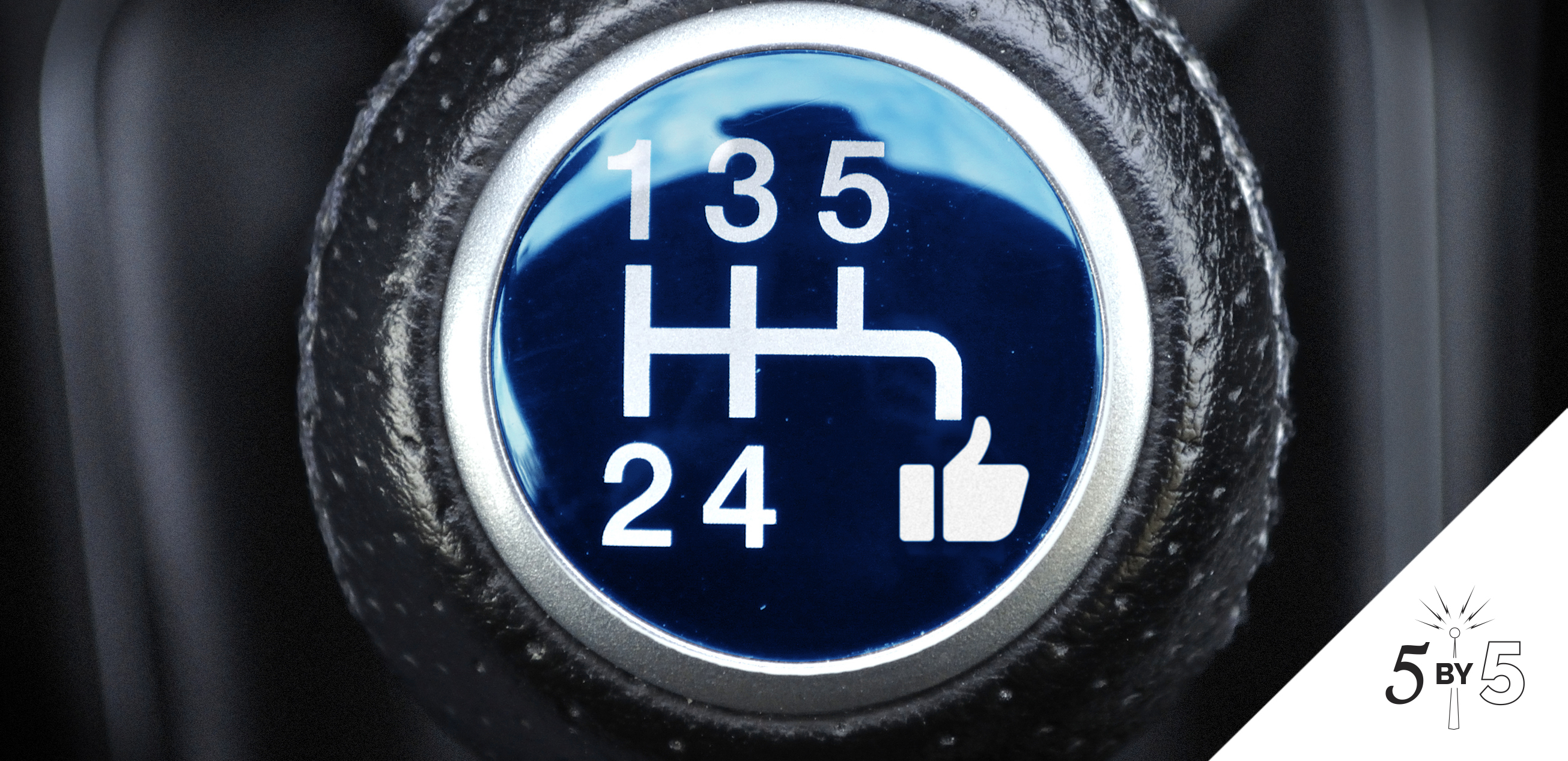 gear knob with facebook like symbol