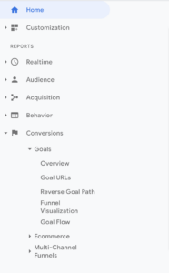 Google Analytics Goals Funnel selection