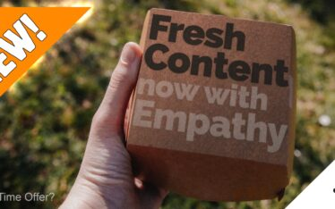 "take out burger box ""fresh content now with empathy"""