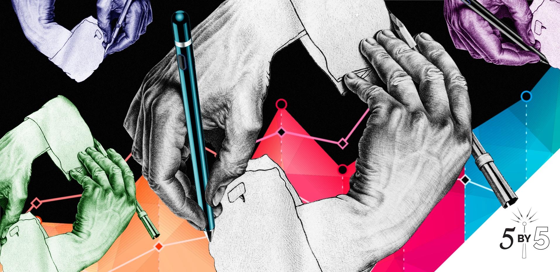 ambidextrous drawing