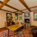 Vail-Mountain-Elegant-study-with-custom-beams-and-crown-molding