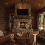 Arrowhead-custom-rustic-fireplace-with-rustic-log-mantle