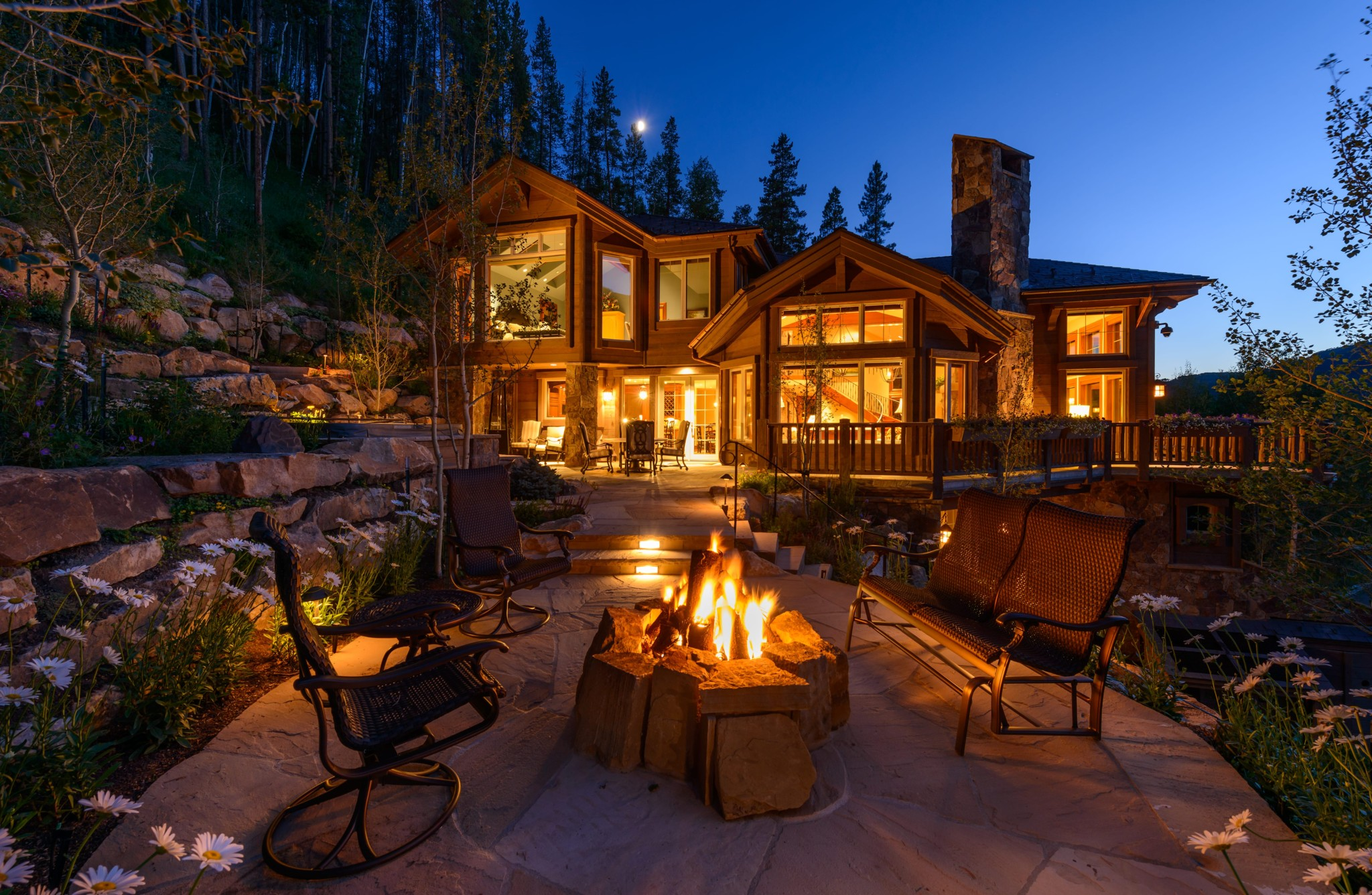 Vail-Mountain-Elegant-exterior-firpit-and-patio-with-custom-landscape-addition