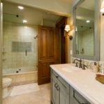 Vail-Mountain-Elegant-jack-and-jill-bathroom-with-custom-tile-and-cabniets