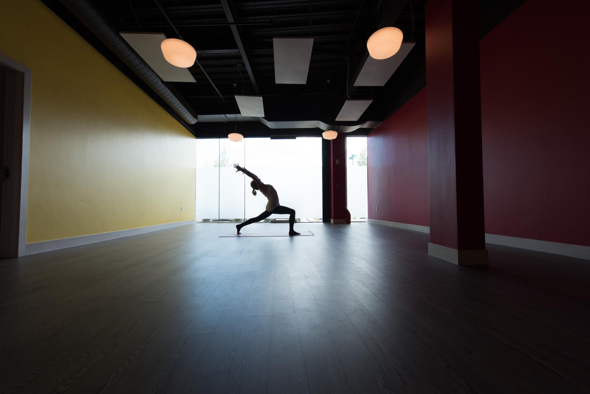 commerial Property - Revolution-power-yoga-Avon-yoga-studio-vynl-plank-flooring