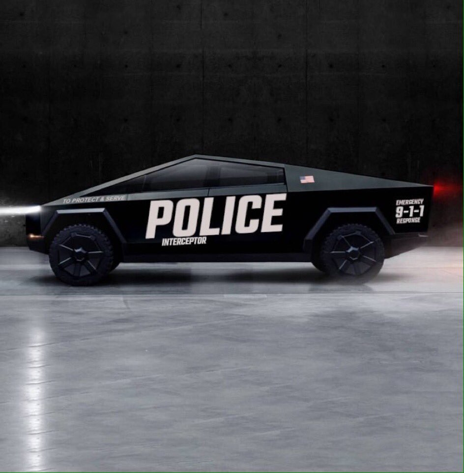 Black Cybertruck Police Interceptor