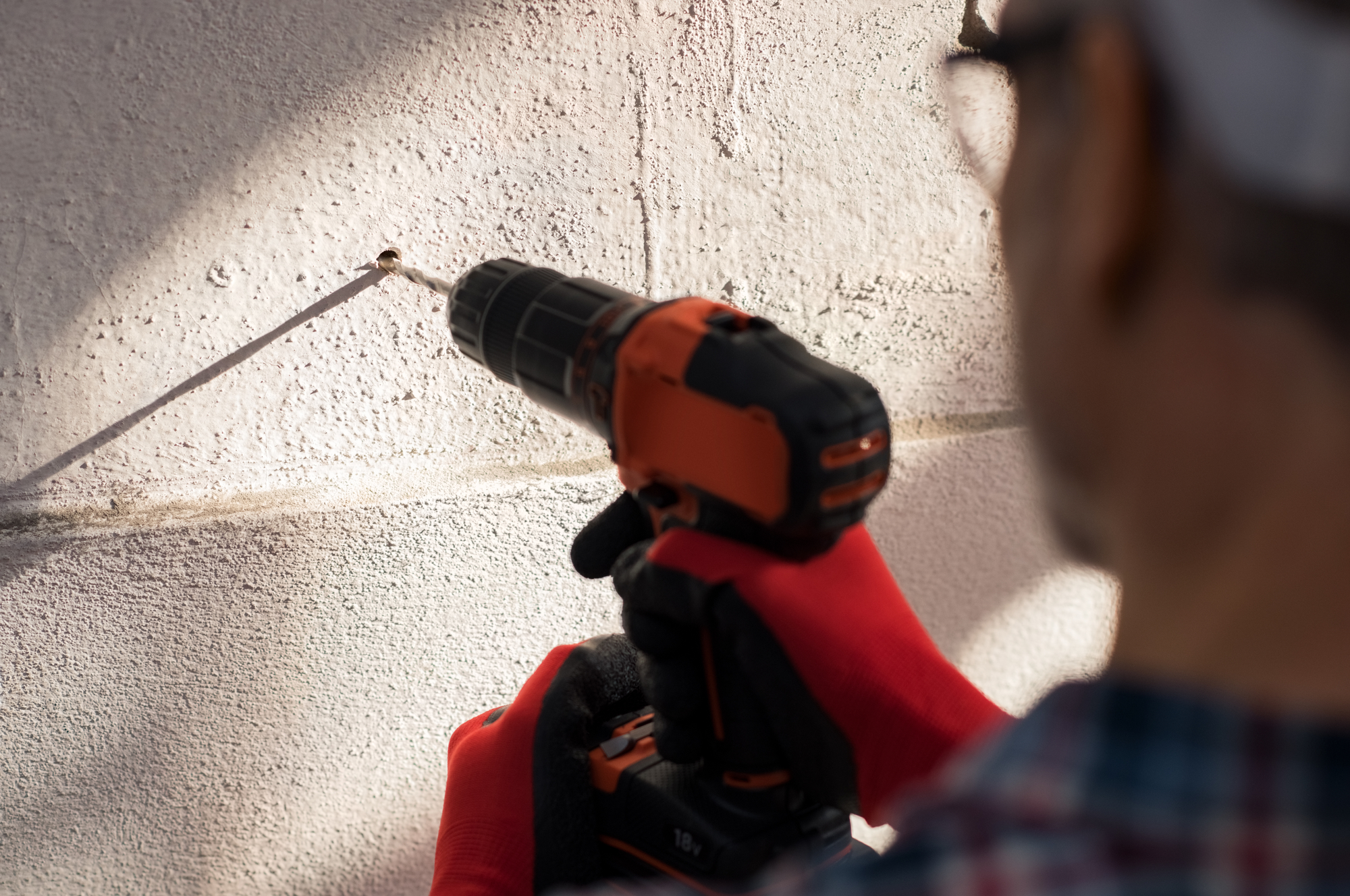 Drilling on Wall
