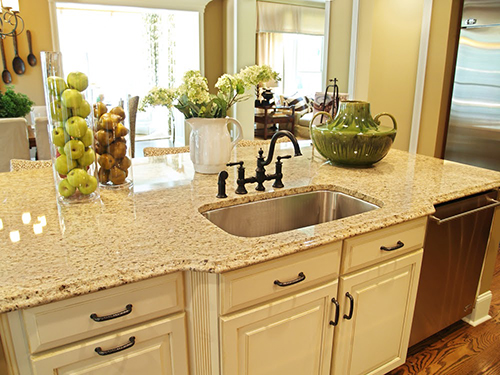 Rounded edges on countertop