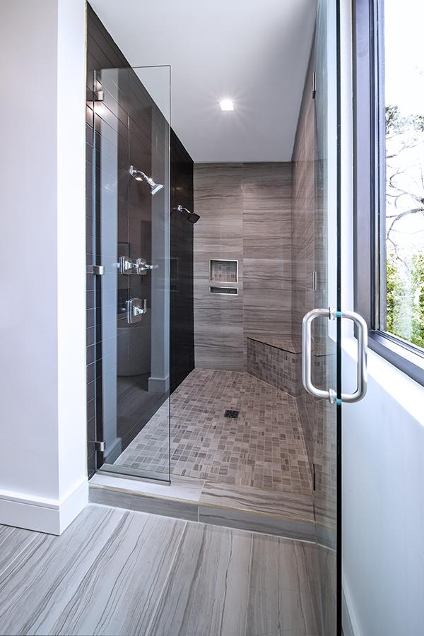 White bathroom freshly remodeled