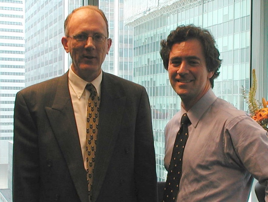 Dr. David Huber and Kevin Kimberlin, co-founders of Ciena.