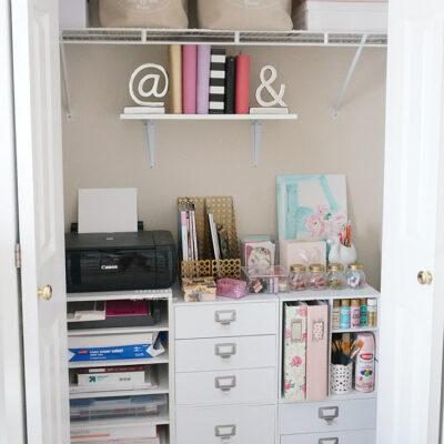 Arts & Crafts Storage Closet
