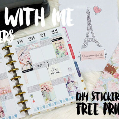 Plan With Me Week 47 + DIY Cover Page! Free Printables!