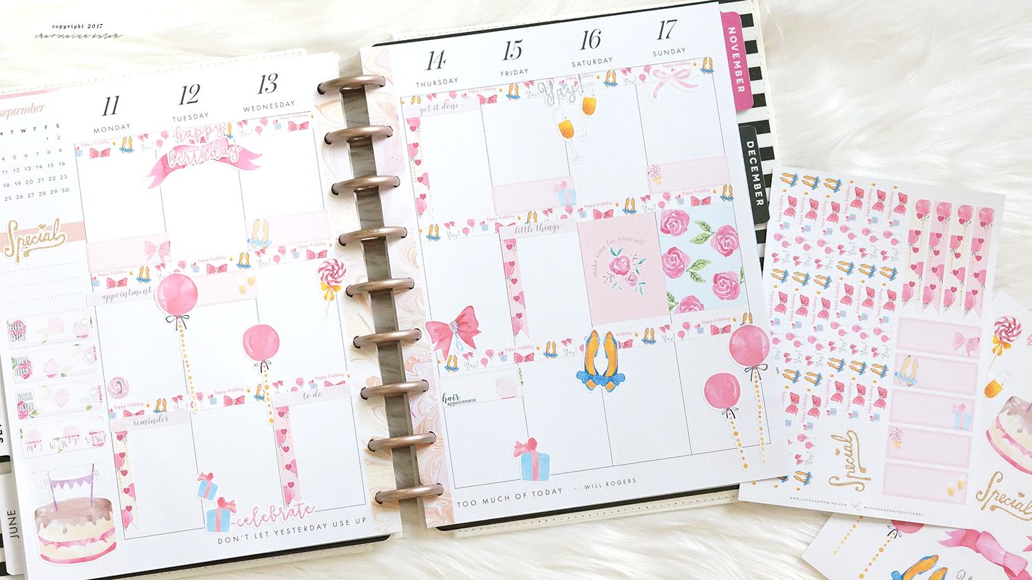 Plan With Me: Birthday Week & Sept Monthly