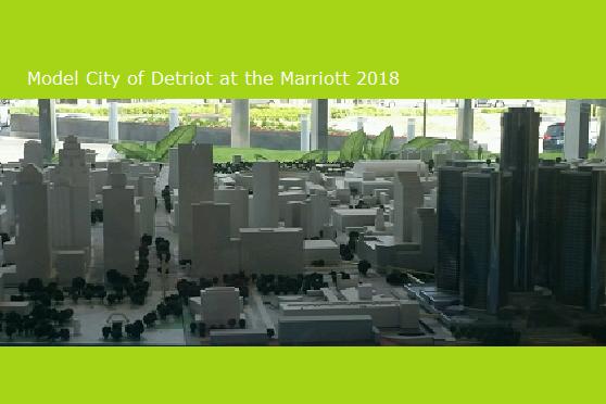 Miniture model of Detroit