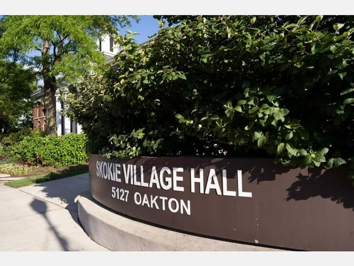 Skokie Village Hall Sign
