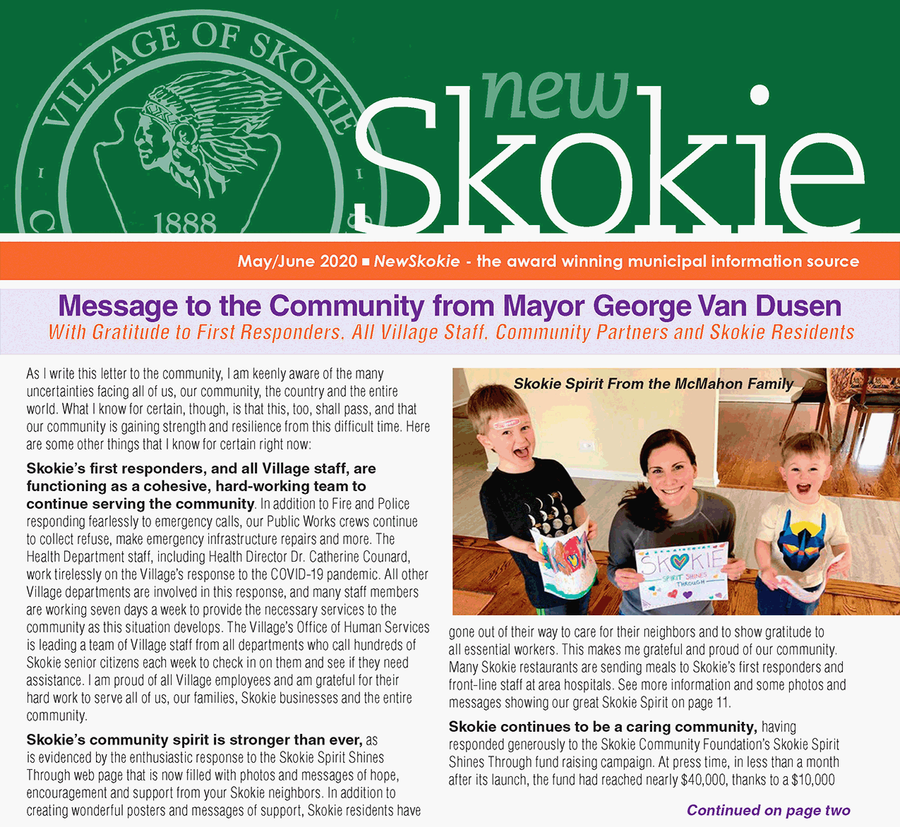 NewSkokie May Page 1