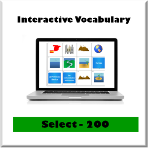 spanish scholars select 200 interactive vocabulary